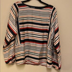 Vince Camuto • Long Striped Sleeve Blouse